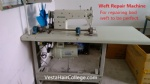 Hair weft repair machine
